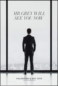 """Fifty Shades of Grey (Focus Features, 2015). One Sheets (2) (27"""" X 40"""") DS Advance 2 Styles. Drama. ... (Total..."""
