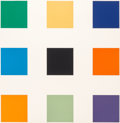 Prints, Ellsworth Kelly (1923-2015). Nine Squares, 1976-77. Screenprint and lithograph in colors on Rives BFK paper. 40-5/8 x 40...
