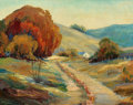 Fine Art - Painting, American:Modern  (1900 1949)  , Florence Elliott McClung (American, 1894-1992). Autumn in theOzarks. Oil on canvas laid on panel. 29-1/4 x 35-1/4 inche...