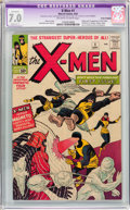 Silver Age (1956-1969):Superhero, X-Men #1 Trimmed (Marvel, 1963) CGC Apparent FN/VF 7.0 Slight (A-1)Off-white to white pages....