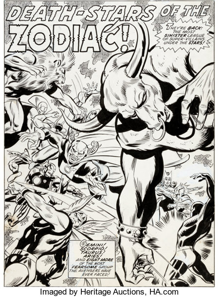 Bob Brown and Don Heck The Avengers #120 Splash Page 1 Original Art (Marvel, 1974)....
