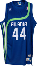 Basketball Collectibles:Uniforms, 1970's Pete Maravich Signed Atlanta Hawks Jersey - The Only KnownSigned Jersey?...