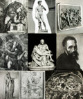 Books:Prints & Leaves, [Michelangelo]. Collection of Approximately 70 Photographic Prints Depicting Works by Michelangelo....