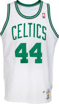 Basketball Collectibles:Uniforms, 1987-88 Danny Ainge Game Worn Boston Celtics Jersey, MEARS A10. ...