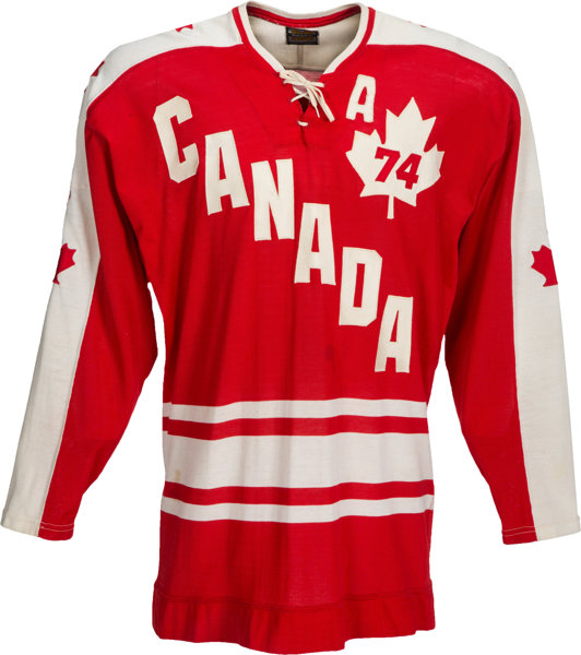 new style d29a8 5d561 1974 Gordie Howe Summit Series Game Worn Team Canada Jersey ...