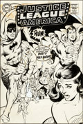 Original Comic Art:Covers, Neal Adams Justice League of America #66 Cover Original Art(DC, 1968)....