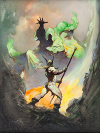 Frank Frazetta The Norseman Painting Original Art (1972)