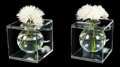 Decorative Arts, American, Charles Hollis Jones (American, b. 1945). A Pair of Centerpiece Vases. Acrylic. 8-1/4 x 8-3/4 x 7-3/4 inches (21.0 x 22.... (Total: 2 Items)