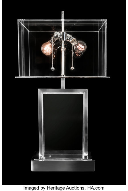 Charles Hollis Jones (American, b. 1945) Edison Lamp, 1971 Lucite, chrome-plated steel 28 x 16 x 12 inches (71.1 x 40...