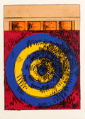 Prints, Jasper Johns (b. 1930). Target with Four Faces, 1968. Screenprint in colors on Rives BFK paper. 36 x 26 inches (91.4 x 6...