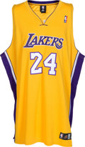 Basketball Collectibles:Uniforms, 2010's Kobe Bryant Signed Los Angeles Lakers Jersey....
