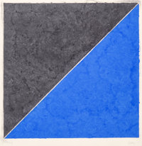 Ellsworth Kelly (1923-2015) Colored Paper Image XV (Dark Gray and Blue), from the Colored Paper Imag
