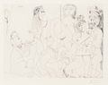Prints:Contemporary, Pablo Picasso (1881-1973). Degas imaginant, from LaSéries 156, 1971. Etching on wove paper, printed 1978. 14-3/8 x...