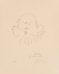 Pablo Picasso (1881-1973) Shakespeare, 1965 Lithograph on wove paper 8-7/8 x 6-7/8 inches (22.2 x