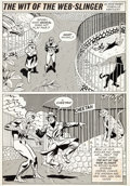 """Original Comic Art:Panel Pages, Win Mortimer Spidey Super-Stories #49 Complete 1- Page Story""""The Wit of the Web-Slinger"""" Original Art..."""