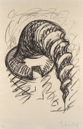 Prints, Claes Oldenburg (b. 1929). Arched Soft Screw as Building, from The Soft Screw series, 1976. Lithograph on Arches pap...