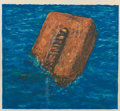 Prints:Contemporary, Robert Arneson (1930-1992). Moby Brick, 1975. Lithograph incolors on wove paper. 9-1/2 x 10-1/2 inches (24.1 x 26.7 cm)...