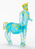 Sculpture, After Pablo Picasso (1881-1973). Centaur, 1964. Glass with pigment. 11-1/2 x 13 x 4 inches (29.2 x 33 x 10.2 cm). Etched...