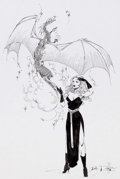 Original Comic Art:Illustrations, Lela Dowling - Dragon Lady Illustration Original Art (c. 1975)....