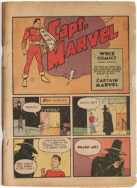 Whiz Comics #2 (#1) (Fawcett Publications, 1940) Condition: Coverless