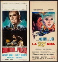 """The Naked Street & Other Lot (United Artists, R-1963). Italian Locandinas (2) (12.5"""" X 27.5"""" & 13""""..."""