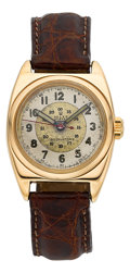 Timepieces:Wristwatch, Rolex Oyster Chronometer 14k Gold Observatory Wristwatch Ref. 3116....