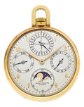 Timepieces:Pocket (post 1900), Patek Philippe Ref. 725 Very Fine Perpetual Calendar With Moon Phase, circa 1949. ...