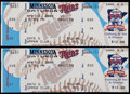 Baseball Collectibles:Tickets, 2000 Cal Ripken Jr. 3000th Hit Full Tickets Lot of 2. ...