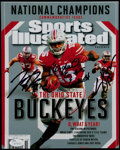 Football Collectibles:Photos, Cardale Jones, Joey Bosa and Ezekiel Elliott Signed Photograph.. ...