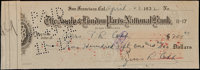 1932 Ty Cobb Signed Check