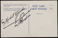 Miscellaneous Collectibles:General, Jesse Owens Signed Postcard....