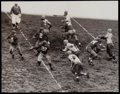 Football Collectibles:Photos, 1938 Mel Hein and the New York Giants Vs. Green Bay Packers Original Photograph - Extremely Rare Early Action Photo....