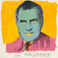 Andy Warhol (1928-1987) Vote McGovern, 1972 Screenprint in colors on Arches paper 42 x 42 inches