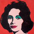 Prints, Andy Warhol (1928-1987). Liz, 1964. Offset lithograph in colors. 21-7/8 x 21-7/8 inches (55.6 x 55.6 cm) (image). 23 x 2...