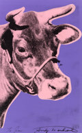 Prints, Andy Warhol (1928-1987). Cow, 1976. Screenprint in colors. 45 x 29-5/8 inches (114.3 x 75.2 cm). Signed and dedicated 'T...