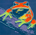 Post-War & Contemporary:Pop, Andy Warhol (1928-1987). Pine Barrens Tree Frog, from theEndangered Species portfolio, 1983. Screenprint in col...