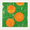 Prints:Contemporary, Donald Sultan (b. 1951). Four Oranges, April 2, 1993.Screenprint in colors on wove paper. 30-1/4 x 30-1/4 inches (76.8...