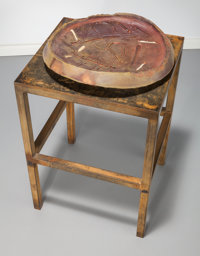 Peter Voulkos (American, 1924-2002) Untitled (Plate with Stand), 1992 Glazed ceramic, steel 4 inc