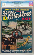 Platinum Age (1897-1937):Miscellaneous, Don Winslow of the Navy #1 (Merwil Publishing, 1937) CGC FN/VF 7.0Off-white to white pages....
