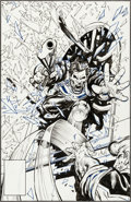 Original Comic Art:Covers, Mark Texeira The Punisher War Journal #16 Cover Original Art(Marvel, 1990)....
