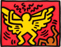 Prints:Contemporary, Keith Haring (1958-1990). Untitled, from the Pop ShopIV series, 1989. Screenprint in colors on wove paper. 11-1/2x...