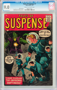 Tales of Suspense #1 (Marvel, 1959) CGC VF/NM 9.0 Cream to off-white pages
