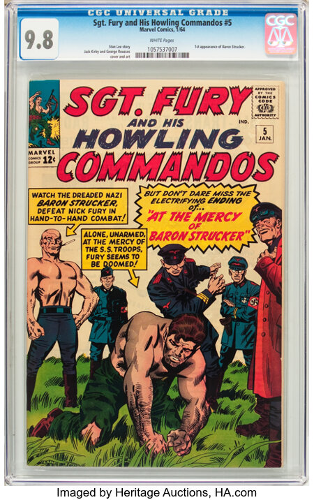 Sgt. Fury and His Howling Commandos #5 (Marvel, 1964) CGC NM/MT 9.8 White pages....
