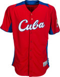 Baseball Collectibles:Uniforms, 2013 Guillermo Heredia Game Worn Cuba World Baseball Classic Jersey. ...