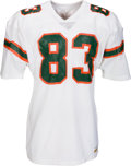 Football Collectibles:Uniforms, Circa 1980-81 Jim Burt Game Worn, Signed Miami Hurricanes Jersey....