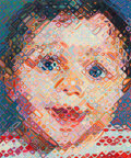 Prints:Contemporary, Chuck Close (b. 1940). Emma, 2002. 113-color hand printedukiyo-e woodcut on Shiramine paper. 36 x 29-3/4 inches(91...