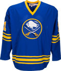 Hockey Collectibles:Uniforms, 1978-79 Gilbert Perreault Game Worn Buffalo Sabres Jersey....