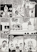Original Comic Art:Panel Pages, Bob Montana Pep Comics #27 Archie Page 7 Original Art(MLJ/Archie, 1942)....