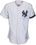 Baseball Collectibles:Uniforms, 2007 Mariano Rivera ALDS Game Worn New York Yankees Jersey....