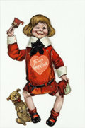 Memorabilia:Comic-Related, Buster Brown and Tige Poseable Valentines Card (c. 1900s)....